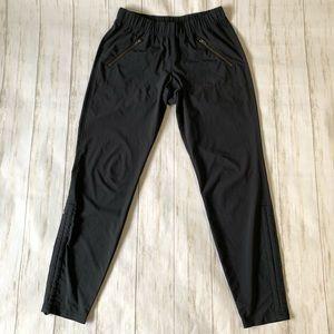 Athleta Pants Black Zipper Pocket ankle Drawstring